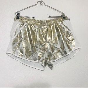 Under Armour metallic shorts NWT